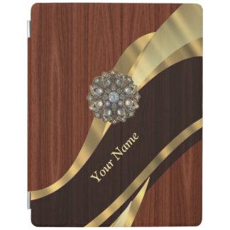 名前入りでかわいらしく模造のなさくらんぼ木 iPadスマートカバー
