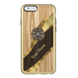 名前入りでかわいらしく模造のなカシ木 INCIPIO FEATHER SHINE iPhone 6ケース