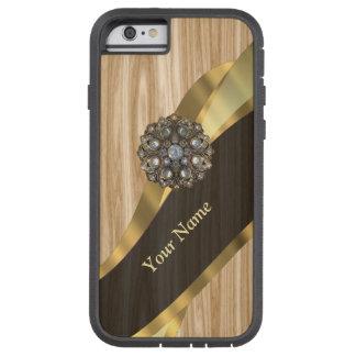 名前入りでかわいらしく模造のなカシ木 TOUGH XTREME iPhone 6 ケース