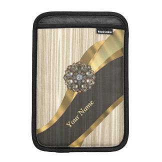 名前入りでかわいらしく模造のな木 iPad MINIスリーブ