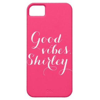 名前入りでよい感情のShirleyの幸せな断言 iPhone SE/5/5s ケース