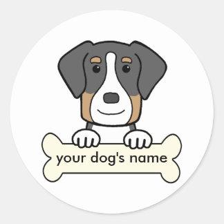 名前入りでより素晴らしいスイス山犬 ラウンドシール