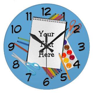 名前入りでアートな技術は柱時計を供給します ラージ壁時計