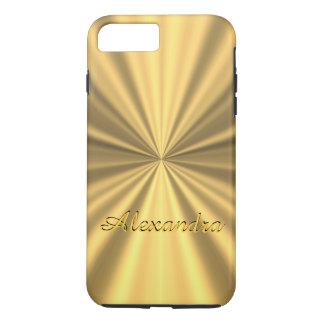 名前入りでシックでエレガントな金 iPhone 8 PLUS/7 PLUSケース