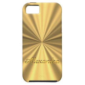 名前入りでシックでエレガントな金 iPhone SE/5/5s ケース