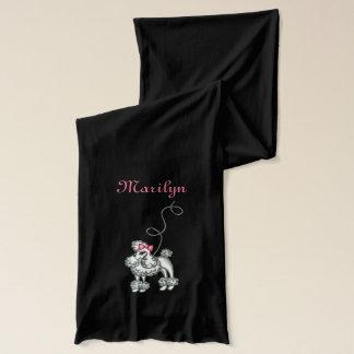 名前入りでフランスのなプードルの女性のスカーフのギフト スカーフ