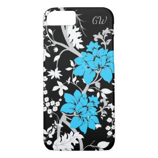 名前入りでモダンな花柄 iPhone 7ケース