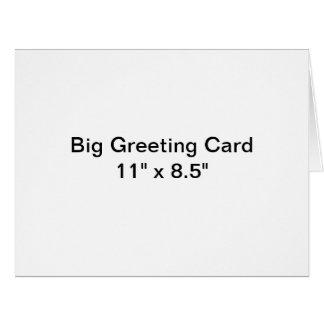 名前入りで大きい挨拶状 ビッググリーティーングカード
