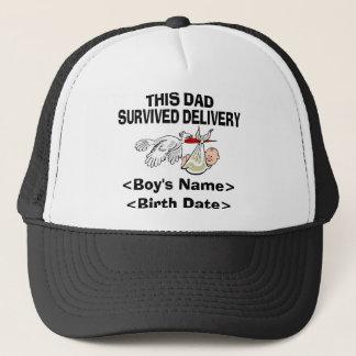 名前入りで新しいパパの男の子の帽子 キャップ