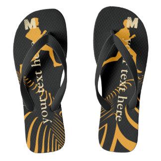 名前入りで明るいスポーツのジョガーのビーチサンダル ビーチサンダル