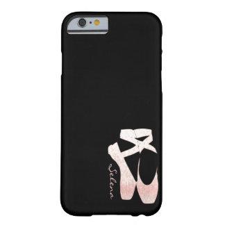名前入りで柔らかい勾配のピンクのバレエシューズ BARELY THERE iPhone 6 ケース