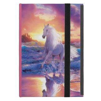 名前入りで白い種馬のiPad Miniケース iPad Mini ケース