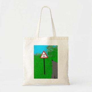 名前入りで空白のな交通標識のバッグ トートバッグ