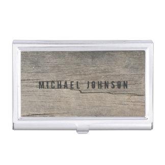 名前入りで素朴な木製のユニーク 名刺入れ