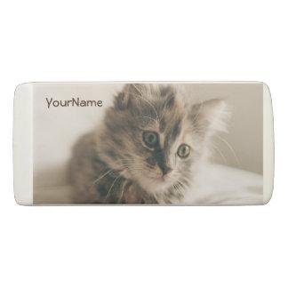 名前入りで美しく甘い猫の子ネコの子猫 消しゴム