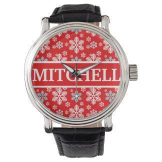 名前入りで赤いブリザード 腕時計