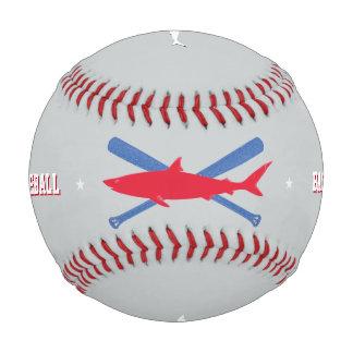 名前入りで赤い鮫 野球ボール