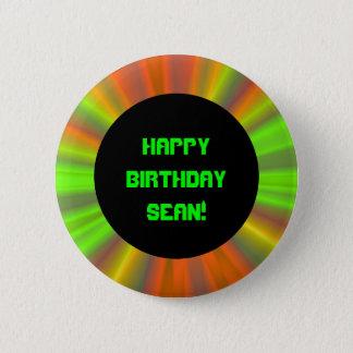 名前入りで軽いショーのフラクタルの芸術の誕生日 5.7CM 丸型バッジ