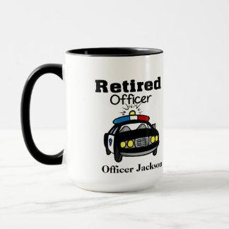 名前入りで退職したな警官のコーヒー・マグ マグカップ
