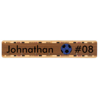 名前入りで青いサッカーボールのカスタムの鍵の棚 キーラック