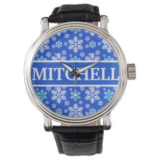 名前入りで青いブリザード 腕時計