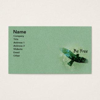 名前入りで飛んでいるな黒は緑の自由なカラスです 名刺