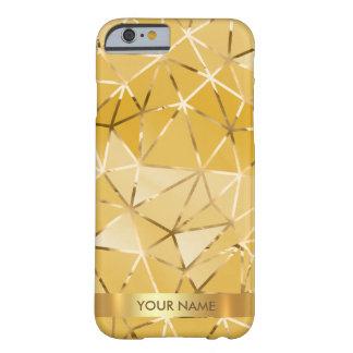 名前入りで魅力的な光沢があるダイヤモンドVipの金ゴールド Barely There iPhone 6 ケース