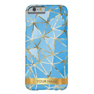名前入りで魅力的な光沢がある青いダイヤモンドVipの金ゴールド Barely There iPhone 6 ケース