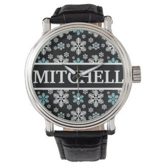 名前入りで黒いブリザード 腕時計
