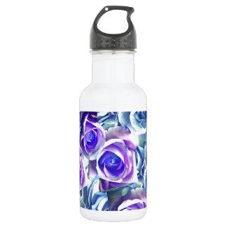 名前入りなあなた自身の青いバラを作成して下さい ウォーターボトル