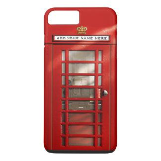 名前入りなおもしろいなイギリスの赤い電話ボックス iPhone 7 PLUSケース