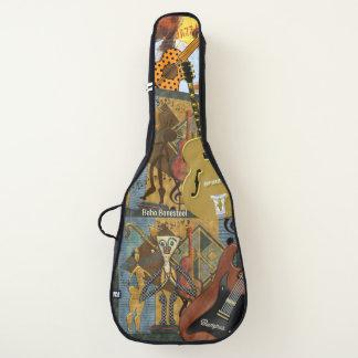 名前入りなおもしろいの近代美術音楽コラージュ ギターケース