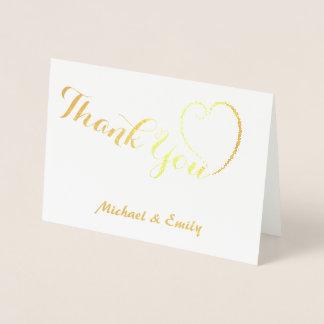 名前入りなかわいいハートカードありがとう 箔カード