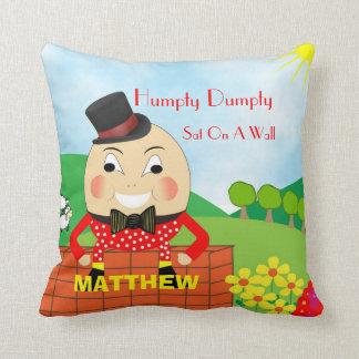 名前入りなかわいい子供の童謡Humpty Dumpty クッション