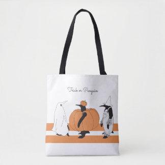 名前入りなかわいくおもしろいなペンギンハロウィン トートバッグ