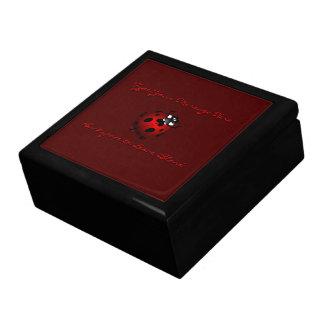 名前入りなてんとう虫の宝石箱のてんとう虫の記念品 ギフトボックス