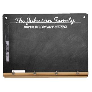 名前入りなのど黒板 キーホルダーフック付きホワイトボード