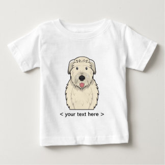 名前入りなアイリッシュ・ウルフハウンドの漫画 ベビーTシャツ