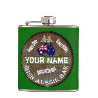 名前入りなアイルランドのオーストラリアのパブの印 フラスク
