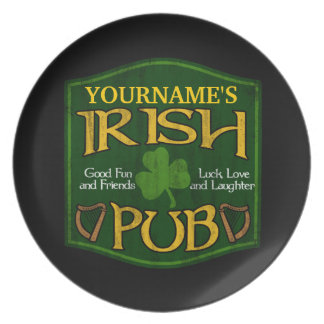 名前入りなアイルランドのパブの印 プレート