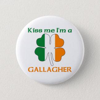 名前入りなアイルランド語は私によってがGallagherである私に接吻します 缶バッジ