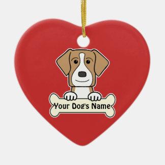 名前入りなアメリカFoxhound セラミックオーナメント
