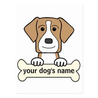 名前入りなアメリカFoxhound ポストカード