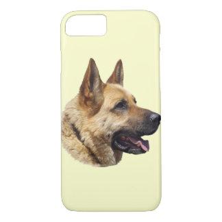 名前入りなアルザスのジャーマン・シェパード犬 iPhone 8/7ケース