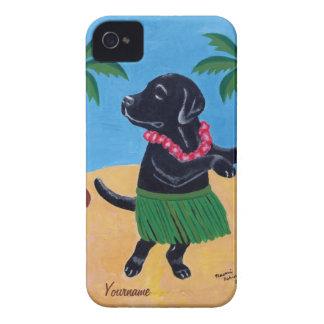 名前入りなアロハ黒い実験室の絵画 Case-Mate iPhone 4 ケース