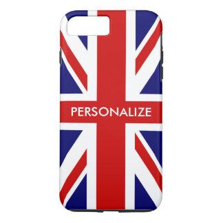 名前入りなイギリスの英国国旗の旗の英国のプライド iPhone 8 PLUS/7 PLUSケース