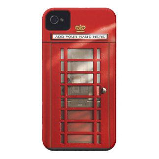 名前入りなイギリスの赤い電話ボックス Case-Mate iPhone 4 ケース