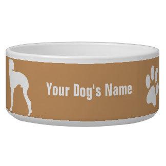 名前入りなイタリアン・グレーハウンドのイタリアンの・のグレーハウンド 犬用水皿