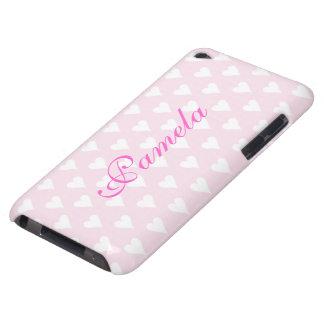 名前入りなイニシャルPの女の子はハートをピンクのかわいい示します Case-Mate iPod TOUCH ケース