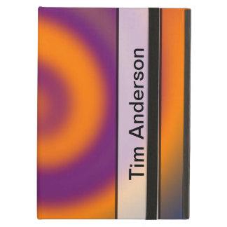 名前入りなオレンジ紫色の渦巻
